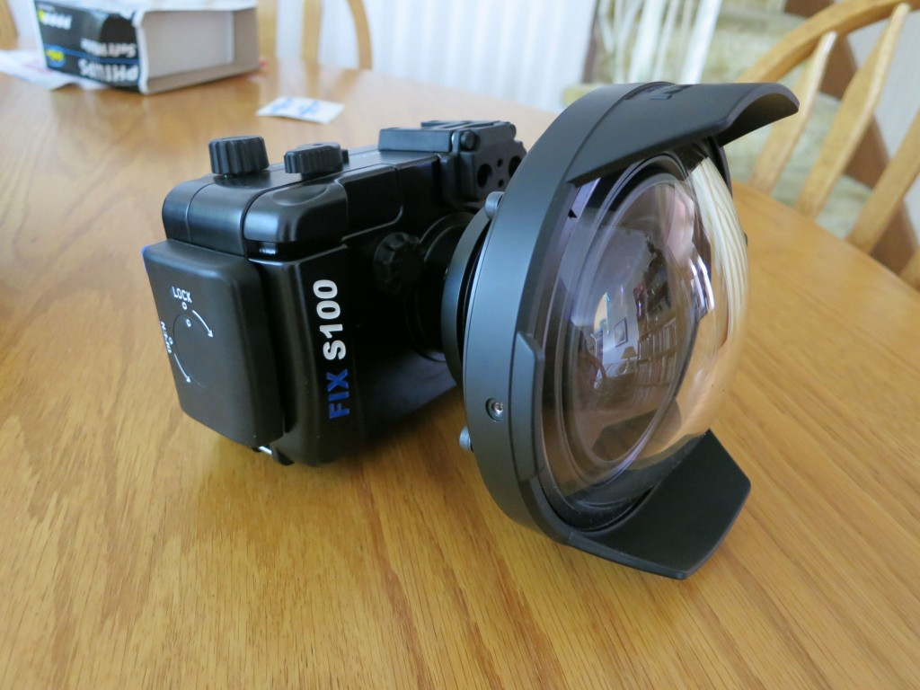 Fix Canon S100 with Inon H100 WA lens and dome