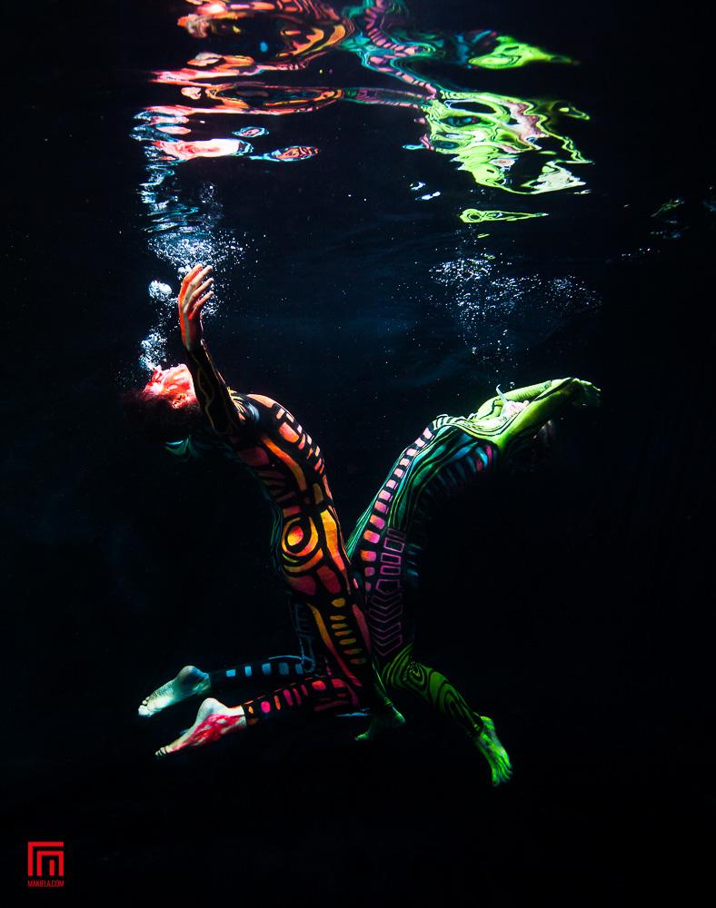 Body Painting and Black Light Pool Shots | Mozaik UW