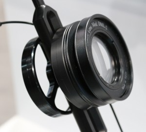 Dual lens holder, fits perfectly inside the new arm system and allows stowing both macro and wide angle wet lens.