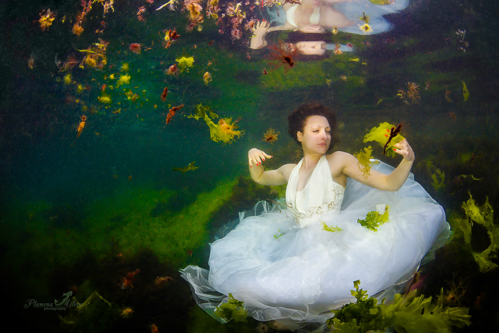 © Plamena Mileva | Jasmine in the underwater garden This one was taken in the Black Sea, again in my favourite place Korabite (vessels) This year, the sea was not calm once. The water in the beautiful cove seemed to be a swamp. The preparation of the world championship in Eilat has begun and I have to test some parts of the styling that I had prepared. I was very happy with the results, it seemed like my underwater camera could see through all the dirt.