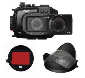 Fantasea FG7X Underwater Housing AND Canon G7X Camera w/ BigEye & RedEye
