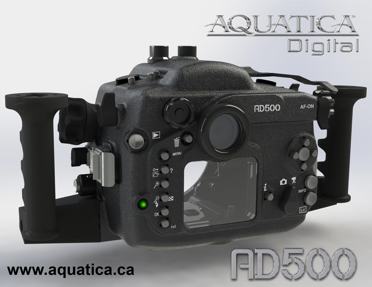 Aquatica AD500 Housing for Nikon D500 back