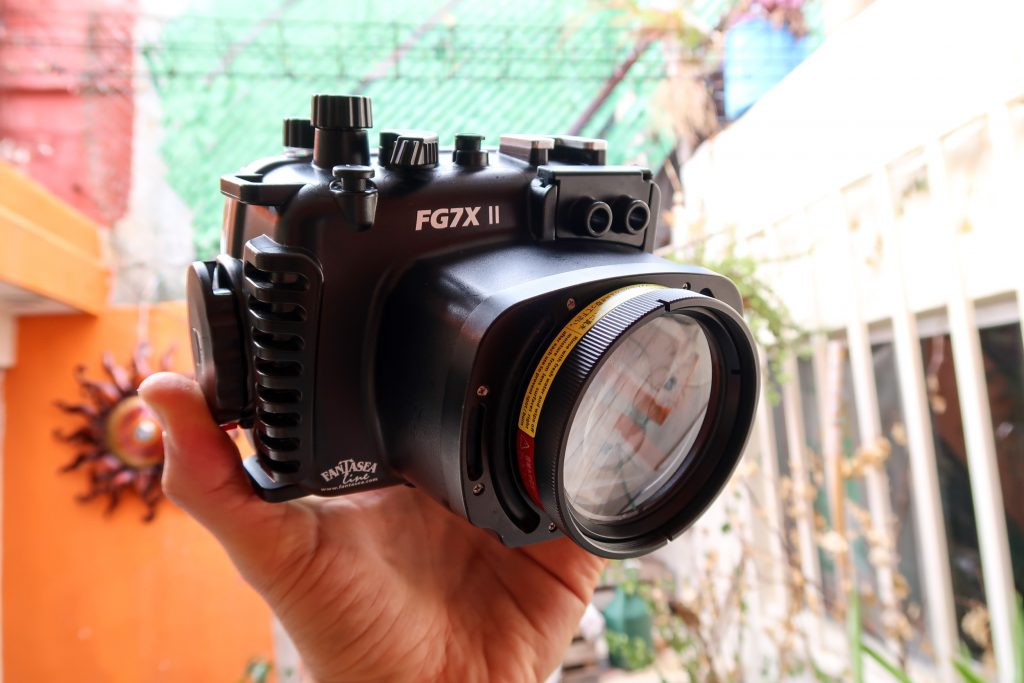 Fantasea FG7XII Housing with UCL-165 Lens mounted directly on the housing