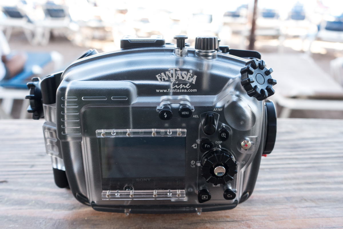 Fantasea FA6500 underwater housing for Sony A6500 Mirrorless Back Side