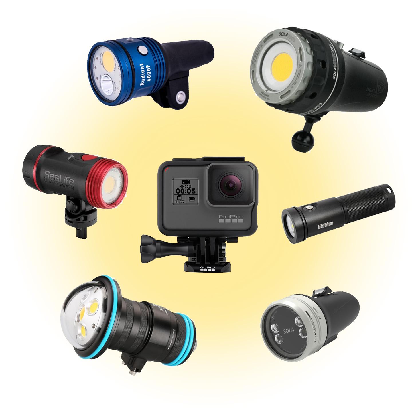 Underwater Light Holder Arm Mount Ball Base Adapter for Diving Flashlight
