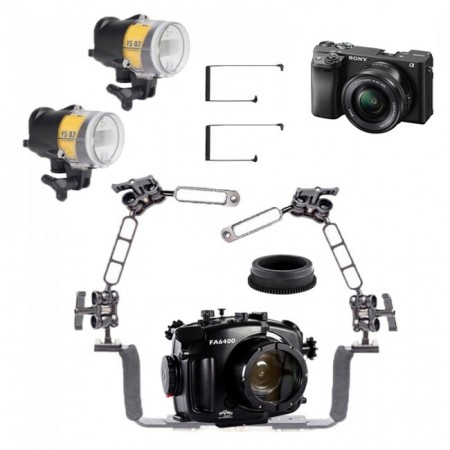 Sony A6400 Camera AND Fantasea Underwater Housing w/Dual Sea and Sea YS-D2J