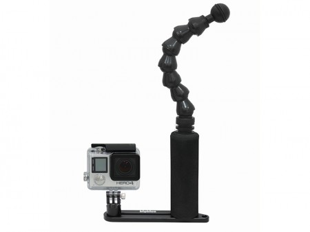 Big Blue Gopro Tray with Flex arm and Ball end
