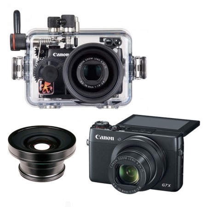 Canon G7X Underwater Camera w/ W-30 Wide Lens