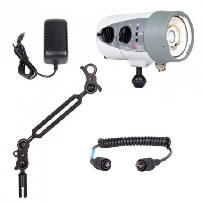 Ikelite DS160 -  Mounted on a Ikelite Ball Arm Light Set