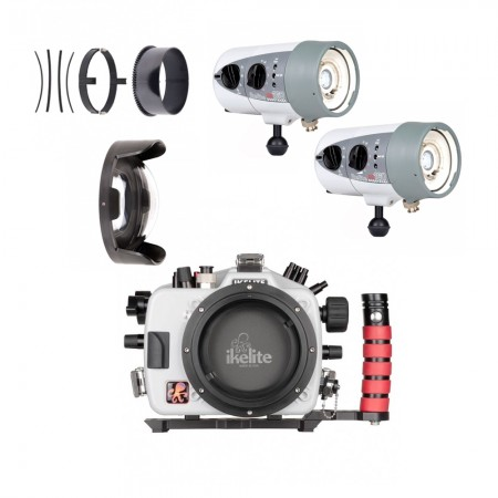 Underwater Housing for Nikon D500 w/Dual DS160 Strobes