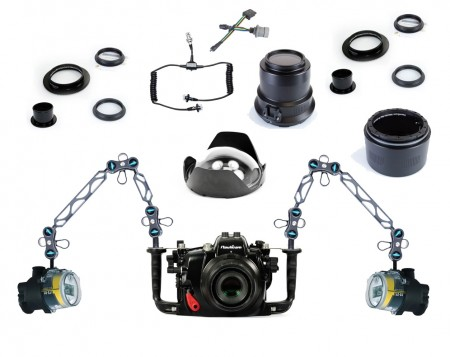 Nauticam Underwater DSLR Package for Canon 5D Mark III (Mark 3) with Canon 100 & Canon 16-35 Lens Ports & Lighting