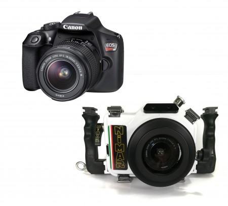 Canon EOS 1300D / T6 Camera and 18-55mm Lens with Nimar Underwater Housing Complete DSLR Package MOZ-NI1300D-CAM- 01