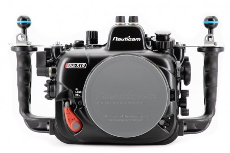 Nauticam S1R front view with cover