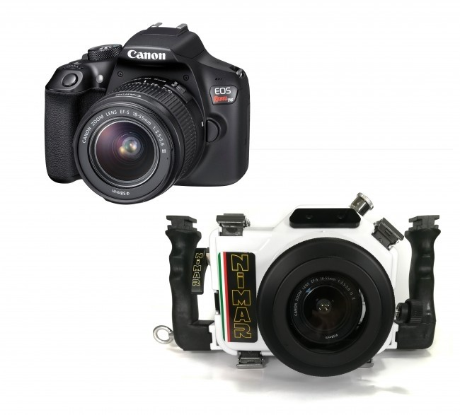 Nimar Underwater DSLR Package for Canon EOS 1500D / T7 with Camera and  18-55mm Lens