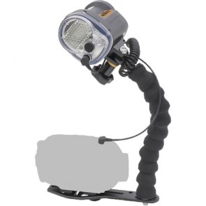 YS-03 Solis -  Mounted on a Sea & Sea Universal Lighting System Light Set