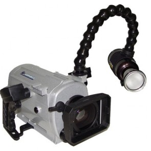 Amphibico Underwater Video Housing - Dive Buddy EVO HD Elite II + 10 Watt Discovery Lights Series for SONY HDR-HC1 , HVR-A1U