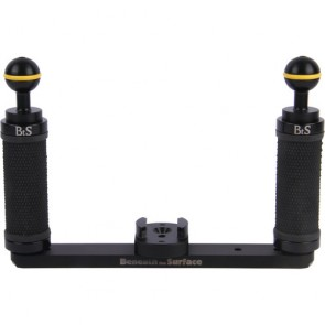 BTS - Tray and Arm set for GoPro / Intova with 2 Ball Mounts & Grips
