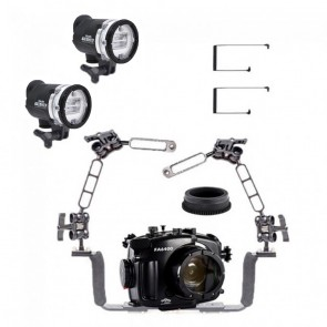 Fantasea Underwater Housing Light Bundle FA-FA6400-OT-YSD3-D- 01