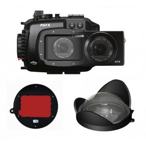 Fantasea FG7X Underwater Housing AND Canon G7X Camera w/ BigEye & RedEye