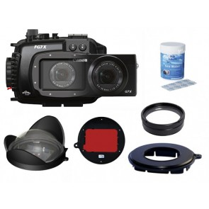 Fantasea FG7X Underwater Housing AND Canon G7X Camera w/ BigEye, SharpEye +8 & RedEye