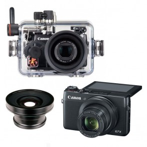 Ikelite  Underwater Housing AND Canon G7X Camera w/ W-30 Wide Lens