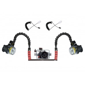 Ikelite  Underwater Housing for Sony RX100 III w/Dual Sea & Sea YS-D2