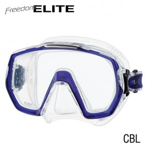 Open Box TUSA - Freedom Elite Dive Mask - Cobalt Blue