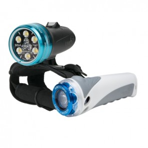 Light and Motion Sola 1200 Combo Kit (1200 Lumens) Underwater Video Light