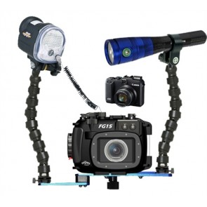 Fantasea FG15 Underwater Housing AND Canon G15 Camera w/YS-01 Strobe Radian 1600 Video Light
