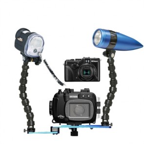Fantasea FP7100 housing AND Nikon P7100 Digital Camera with YS-01 Strobe & Video Light FF4X5A