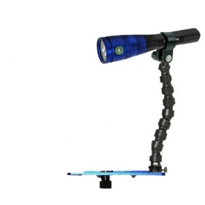 Fantasea Radiant 1600 Lumen Video Light -  Mounted on a Blueray Flex Arm Tray Light Set