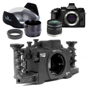 Aquatica AE-M1 Underwater Housing AND Olympus OM-D E-M1 Digital Camera