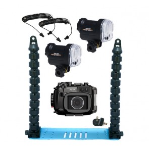 Fantasea FG16 Underwater Housing for Canon G16 w/Dual S&S YS-01 Strobe