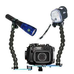 Fantasea FG16 Underwater Housing for Canon G16 w/S&S YS-01 Strobe Fantasea Radiant 1600 Video Light
