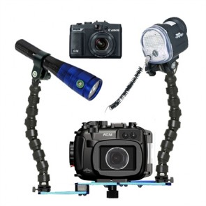 Fantasea FG16 Underwater Housing AND Canon G16 Camera w/S&S YS-01 Strobe Fantasea Radiant 1600 Video Light