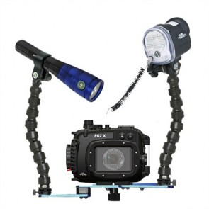 Fantasea FG7X Underwater Housing for Canon G7X w/S&S YS-D1 Strobe & Radiant 1600