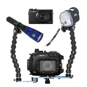 Fantasea FG7X Underwater Housing AND Canon G7X Camera w/S&S YS-01 Strobe & Radiant 1600