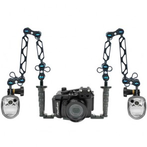 Nauticam NA-RX100M2 Underwater Housing for Sony RX100 II (M2) w/Dual Sea & Sea YS-01 Strobe