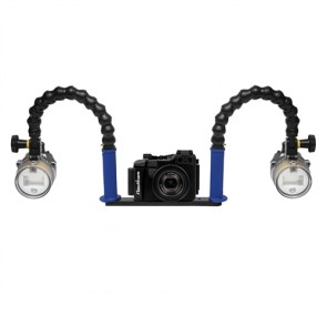 Nauticam NA-RX100 Underwater Housing for Sony RX100 w/Dual Sea & Sea YS-D1 Strobe