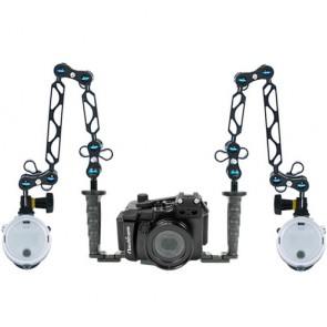 Nauticam NA-RX100M2 Underwater Housing for Sony RX100 II (M2) w/Dual Sea & Sea YS-D1 Strobe