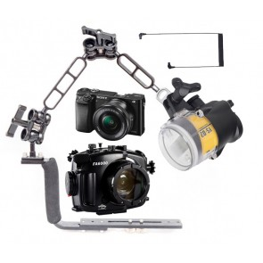 Mozaik Underwater Camera Housing Light Bundle MOZ-FA6000-YS-D2- 01