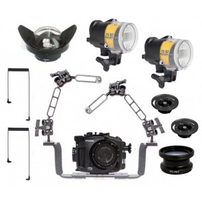 Fantasea FA6500 Underwater Housing for Sony A6500 / A6300 w/Dual YS-D2J + Wide and Macro lens