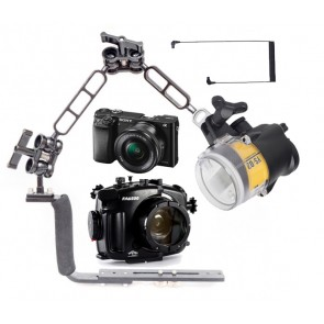 Mozaik FA6500 Underwater Housing AND Sony A6500 Camera w/Sea & Sea YS-D2J