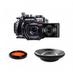 Fantasea FG7XII A Underwater Housing AND Canon G7X II Camera w/ BigEye & RedEye