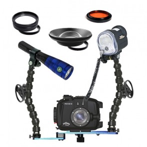Fantasea FRX100III Underwater Housing for Sony RX100 III w/Sea & Sea YS-01 Fantasea Radiant 1600
