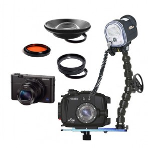 Fantasea FRX100III Underwater Housing AND Sony RX100 III Camera w/Sea & Sea YS-01