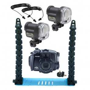 Fantasea FRX100 V Underwater Housing for Sony RX100 III / IV / V w/Dual Sea & Sea YS-01 Solis