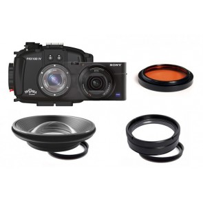 Fantasea FRX100IV Underwater Housing AND Sony RX100 IV Camera w/ BigEye, SharpEye & RedEye
