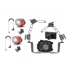 Fantasea FRX100 V Underwater Housing AND Sony RX100 V Camera w/Dual Inon S-2000