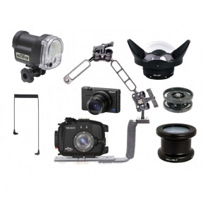 Fantasea FRX100 V Underwater Housing AND Sony RX100 VA Camera w/Sea & Sea YS-01 Solis & Lenses